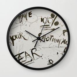 Fear is Fake Wall Clock