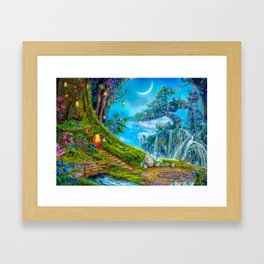 Day Moon Haven Framed Art Print