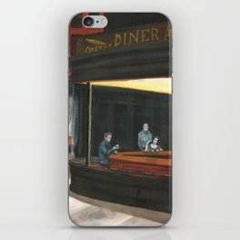 Tribute classic hollywood THE DINER Marilyn Monroe, Liz Taylor, James Dean & Frank Capra iPhone Skin