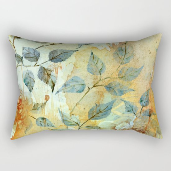roses and orange splash Rectangular Pillow