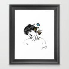 BUTTERFLIES ON MY MIND Framed Art Print