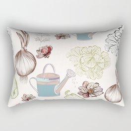 Cozy kitchen garden Rectangular Pillow