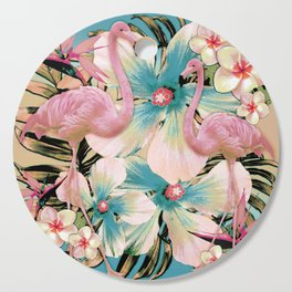 Vintage Flamingo Aloha Cutting Board