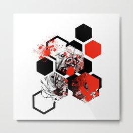 Trash Polka bear Metal Print
