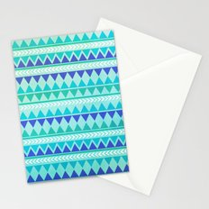 Winter Aztec Pattern Stationery Cards
