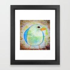 Sweet Little Bluebird Whimsical Rustic Chic Cottage decor Baby Bird Framed Art Print