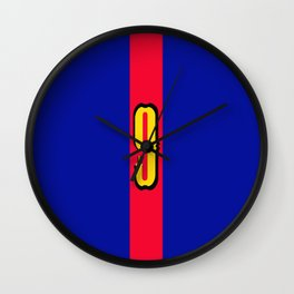 football team 1 number nine Wall Clock