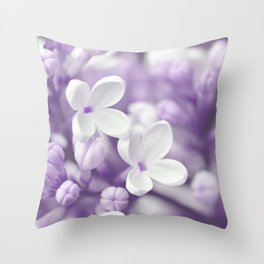 Lilac 167 Throw Pillow