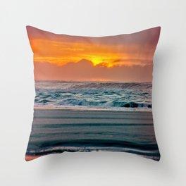 Ocean Sunset - Pacific Coast Highway 101 Throw Pillow
