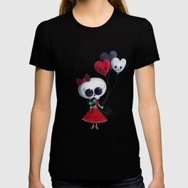 Little Miss Death with Balloons T-shirt
