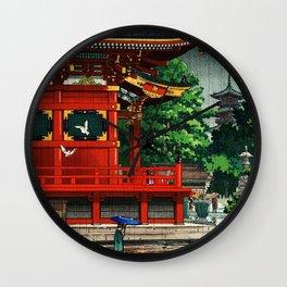 In the rain-Asakusa Sensouji temple Wall Clock