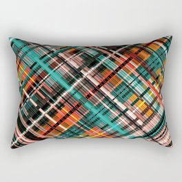 Colorful tartan design, crossed lines, native plaid Rectangular Pillow