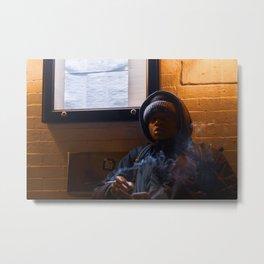 Man Smoking a Cigarette Metal Print