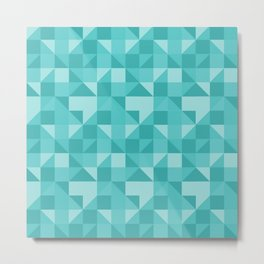 beautiful green geometric figures in the shape of modern triangles Metal Print