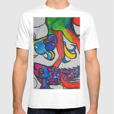 Jumping Fish MEDIUM White Mens Fitted Tee