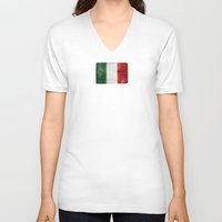 italy V-neck T-shirts featuring Italy by Arken25
