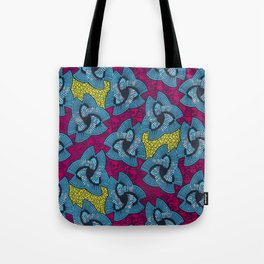 Triangle Blues African Ankara Tote Bag