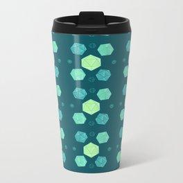 Blue & Green DnD Dice Metal Travel Mug