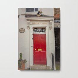 Cardinal's Warf Red Door Bankside London England Metal Print