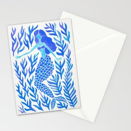 Kelp Forest Mermaid – Blue Palette Stationery Cards