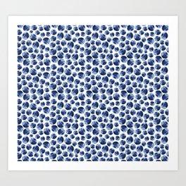Blueberries Pattern Art Print