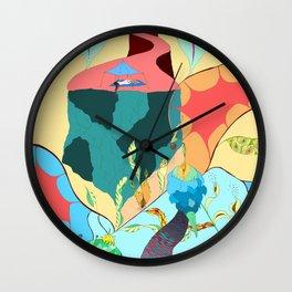 Girl in the sky Wall Clock
