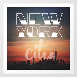 New York Cityscape Art Print