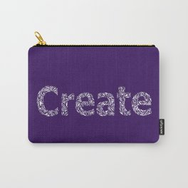 Create: Cut Paper Typography in Purple Carry-All Pouch