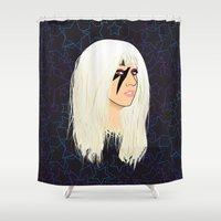 disco Shower Curtains featuring Disco Heaven by Pendientera