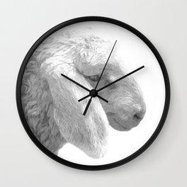 Black and White Sheep Wall Clock