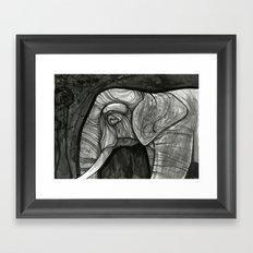 night elephant  Framed Art Print
