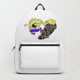 spongebob skate camo Backpack