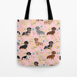 Dachshund easter spring dog costume pet portrait dog breed doxie Tote Bag