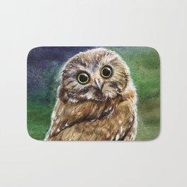 Coffee Owl Bath Mat