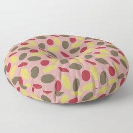 Geometry on Pink Floor Pillow