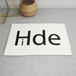 """Hide with the letter """"I"""" hiding Rug"""