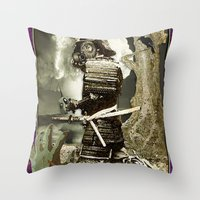 fallout Throw Pillows featuring Fallout by Danielle Tanimura