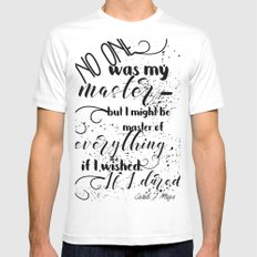 A Court of Mist and Fury Inspired, Master of Everything MEDIUM White Mens Fitted Tee