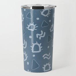 marfa, indigo shibori Travel Mug
