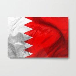 Bahrain Flag Metal Print