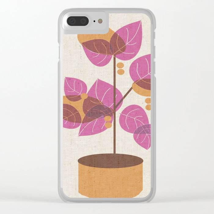 Purple Tree Clear iPhone Case