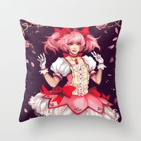 madoka Throw Pillows featuring ♥ Madoka ♥ by ShinoX