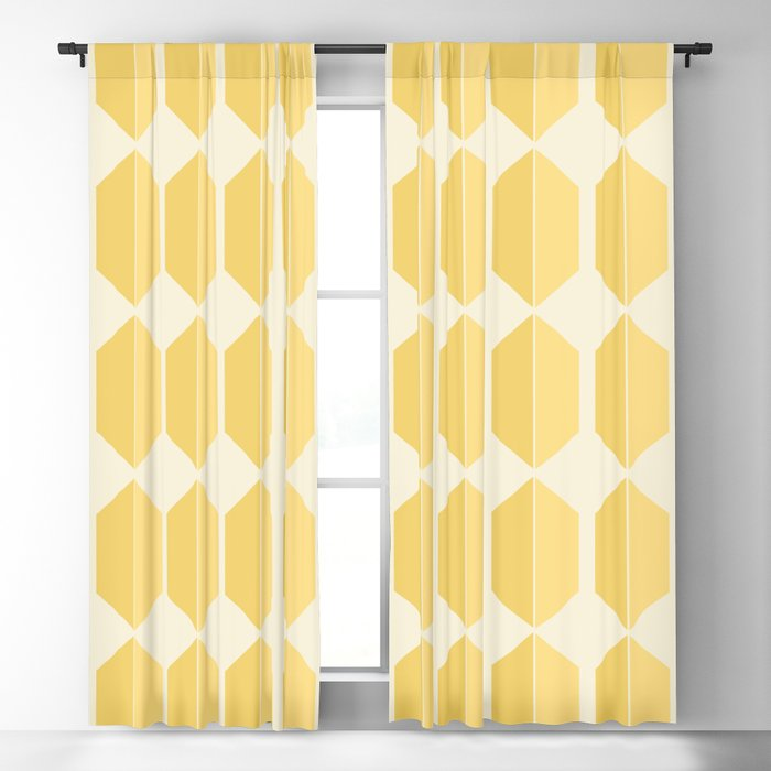 Zola Hexagon Pattern - Golden Spell Blackout Curtain