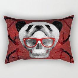 GEOMETRIC SKULL PANDA HAT Rectangular Pillow