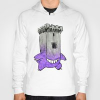 gengar Hoodies featuring Castle Gengar by notalkingplz