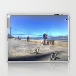 Fishermen And Cats Istanbul Laptop & iPad Skin
