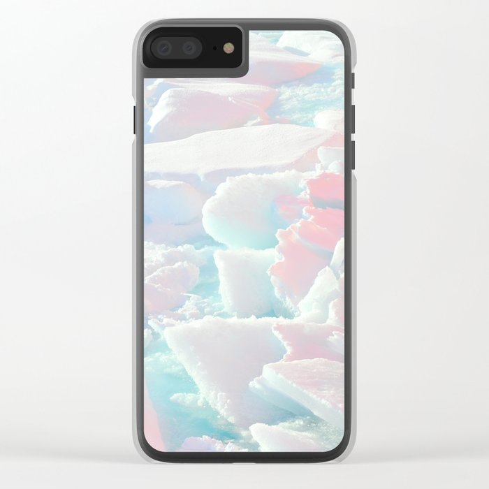 Broken Ice Pastel Texture Clear iPhone Case