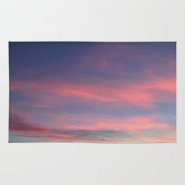 Pink sky in evening Rug