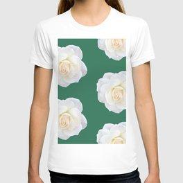 Cream Rose Polka Dot Emerald T-shirt