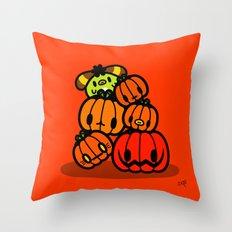 Rin Rin pumpkin Halloween Throw Pillow